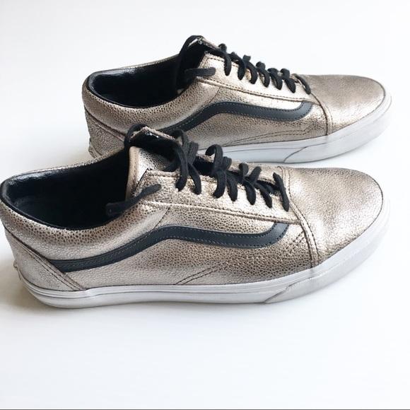 d2736f17a9 Vans Shoes - Vans Metallic Leather Old Skool sneakers